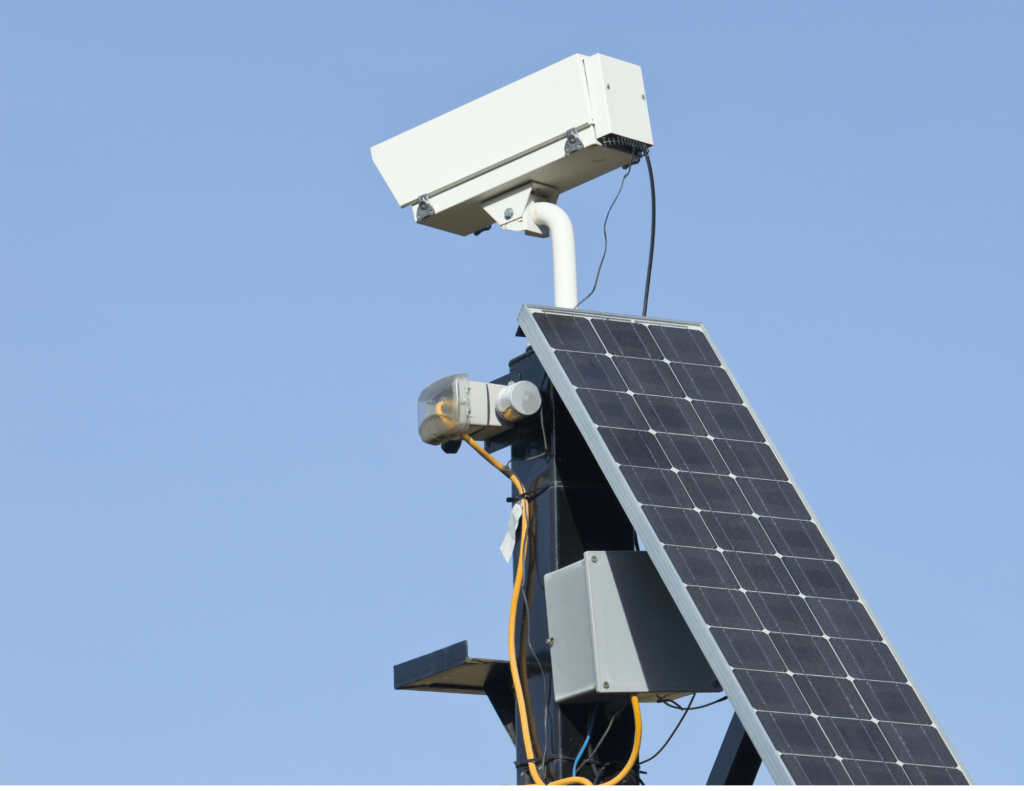 solar power security camera